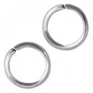 Jumprings stainless steel 8mm Silver