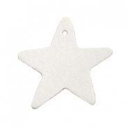 DQ leather charms star Off white