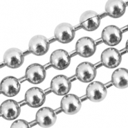 Stainless steel ball chain 1.5mm Silver
