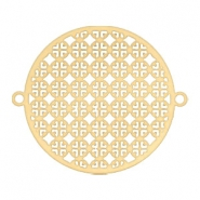 Connector bohemian round 25 mm Gold