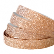 Tape 10 mm crystal glitter Rose gold