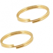 DQ metal findings splitring 10mm Gold (nickel free)