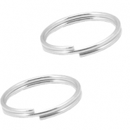 DQ metal findings splitring 10mm Antique silver (nickel free)