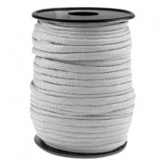 Round trendy 4 mm paracord Licht grey