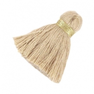 Maxi tassels 3.5 cm Gold-beige brown