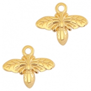 DQ metal charms bee Gold (nickel free)