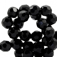 Czech faceted beads 14mm Jet black