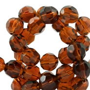 Czech faceted beads 8mm Smoked topaz