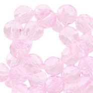 Czech faceted beads 8mm Light rose crystal
