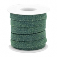 Trendy flat denim cord 10m Dark emerald green