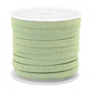 Trendy flat denim cord 5mm Light green