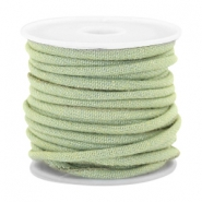 Trendy stitched denim cord 4x3mm Light green