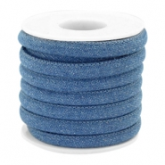 Trendy stitched denim cord 6x4mm Regular blue