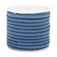 Trendy stitched denim cord 4x3mm Regular blue