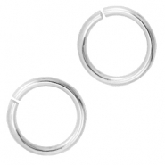 8mm DQ jumpring DQ Antique silver durable plated