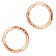 12mm DQ jumpring DQ Rose gold durable plated