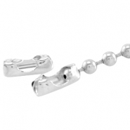 DQ ball chain clasp for 3mm chain DQ Silver durable plated