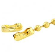 DQ ball chain clasp for 1.2mm chain DQ Gold durable plating