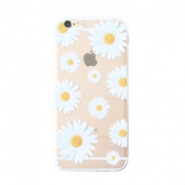 Trendy phone cases for Iphone 6 daisies Transparent-white yellow
