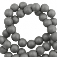 Round hematite beads 10mm matt  Anthracite grey