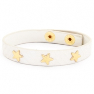 Trendy bracelets reptile with studs gold star Off white