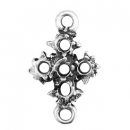 TQ metal charms connector cross Antique silver