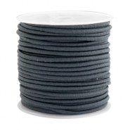 Coloured elastic cord 2.5mm Dark grey