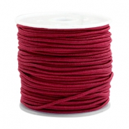 Coloured elastic cord 1.5mm Port red