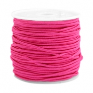 Coloured elastic cord 1.5mm Fuchsia pink