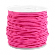 Coloured elastic cord 1.5mm Light fuchsia pink
