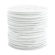 Coloured elastic cord 1.5mm White