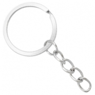 Keychains ring chain 25mm Antique silver
