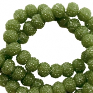Sparkling beads 6mm Olive Green