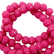Sparkling beads 8mm Yarrow Pink