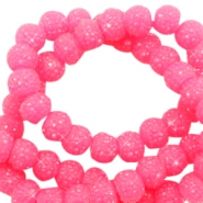 Sparkling beads 8mm Candy Pink