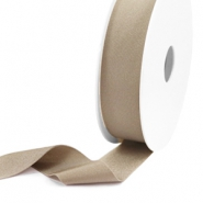 Elastic Ibiza Ribbon 25mm Hazel Natural Brown