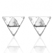 Trendy earrings studs triangle Silver