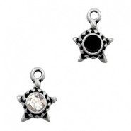 Charms TQ metal star with setting for Swarovski SS24 Antique Silver