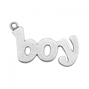 Charms TQ metal boy Antique Silver