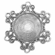 Charms TQ metal Baroque style Antique Silver