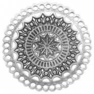 Charms TQ metal Mandala Antique Silver