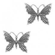 Charms TQ metal butterfly Antique Silver