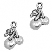Charms TQ metal cherries Antique Silver