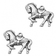 Charms TQ metal circus horse Antique Silver