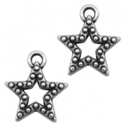 Charms TQ metal star Antique Silver