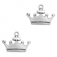 Charms TQ metal crown Antique Silver