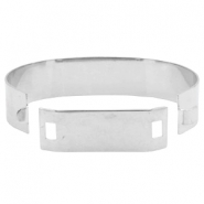 Findings TQ metal basic cuff bracelet 15mm Antique Silver