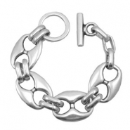 Findings TQ metal bracelet Antique Silver