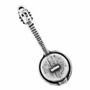 Charms TQ metal banjo guitar Antique Silver