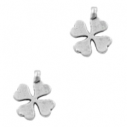Charms TQ metal clover Antique Silver